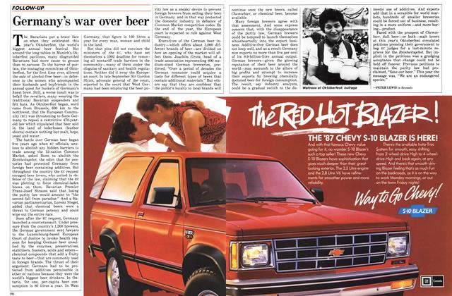 Article Preview: Germany's war over beer, November 1986   Maclean's