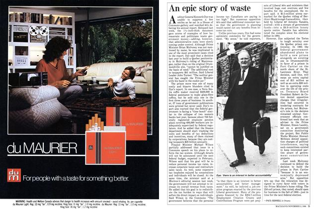 Article Preview: An epic story of waste, November 1986 | Maclean's