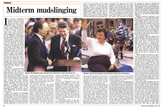 Article Preview: Midterm mudslinging, November 1986 | Maclean's