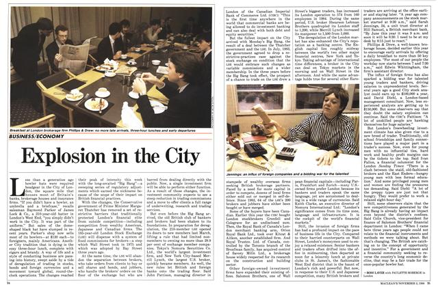 Article Preview: Explosion in the City, November 1986 | Maclean's