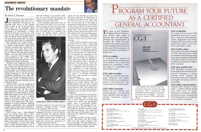 Article Preview: The revolutionary mandate, November 1986 | Maclean's