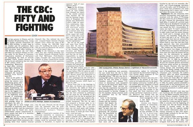 Article Preview: THE CBC: FIFTY AND FIGHTING, November 1986 | Maclean's