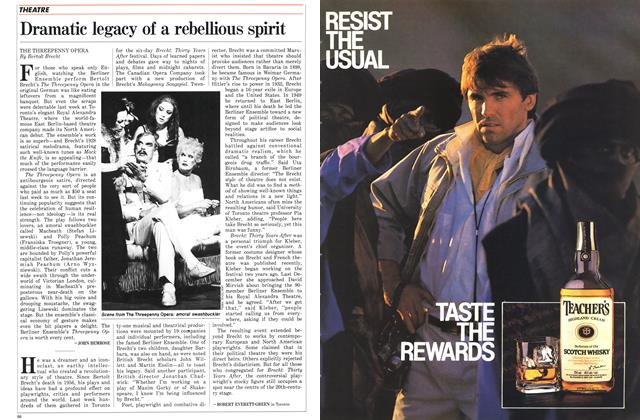 Article Preview: Dramatic legacy of a rebellious spirit, November 1986 | Maclean's