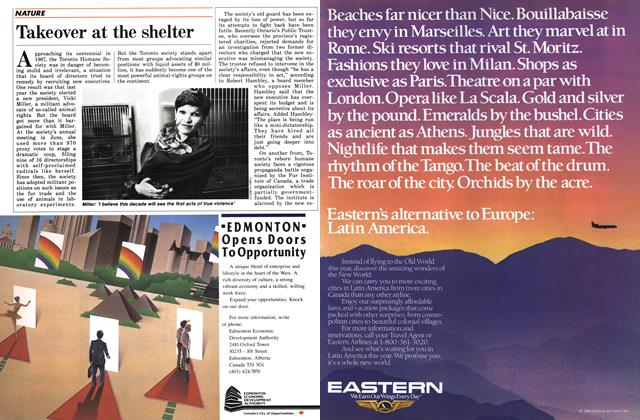 Article Preview: Takeover at the shelter, November 1986 | Maclean's