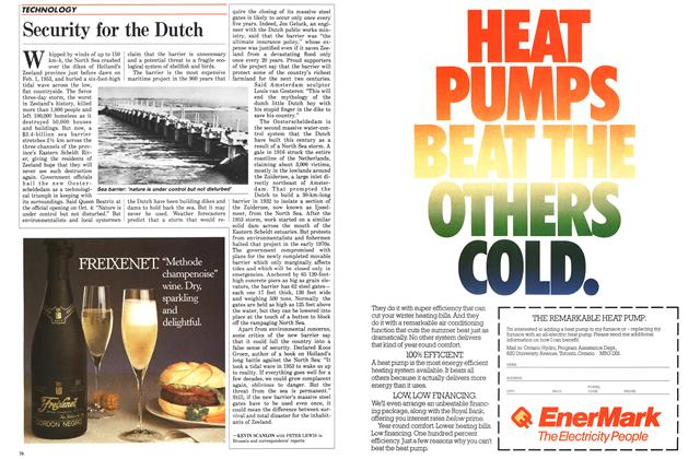 Article Preview: Security for the Dutch, November 1986 | Maclean's