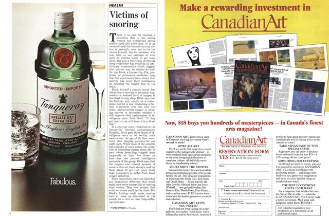 Article Preview: Victims of snoring, November 1986 | Maclean's