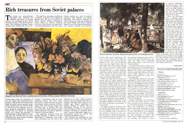 Article Preview: Rich treasures from Soviet palaces, November 1986 | Maclean's