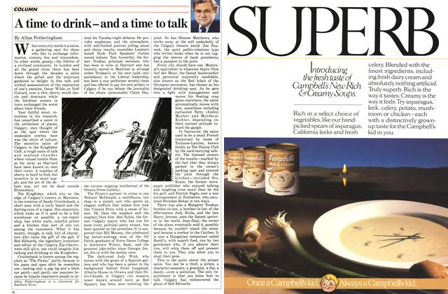 Article Preview: A time to drink-and a time to talk, November 1986 | Maclean's