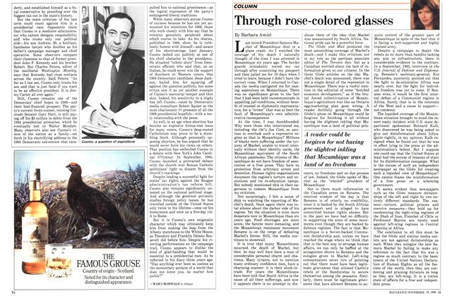 Article Preview: Through rose-colored glasses, November 1986 | Maclean's