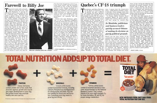 Article Preview: Farewell to Billy Joe, November 1986 | Maclean's