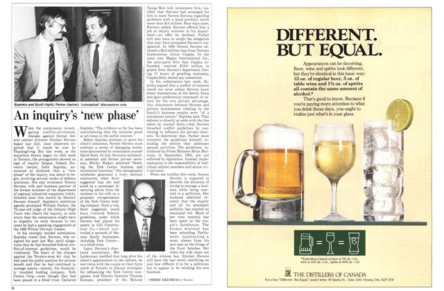 Article Preview: An inquiry's 'new phase', November 1986 | Maclean's