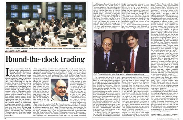 Article Preview: Round-the-clock trading, November 1986 | Maclean's