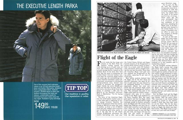 Article Preview: Flight of the Eagle, November 1986 | Maclean's