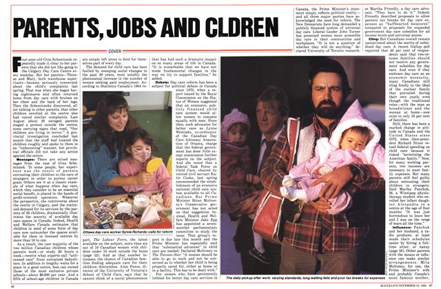 Article Preview: PARENTS, JOBS AND CHILDREN, November 1986 | Maclean's