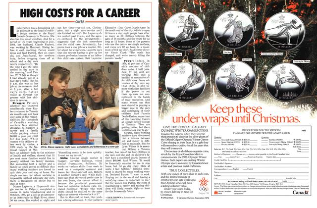 Article Preview: HIGH COSTS FOR A CAREER, November 1986 | Maclean's
