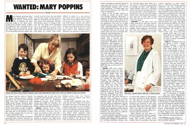 Article Preview: WANTED: MARY POPPINS, November 1986 | Maclean's