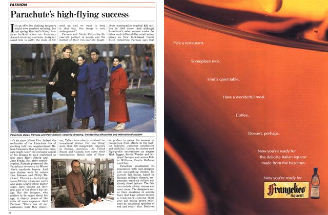 Article Preview: Parachute's high-flying success, November 1986 | Maclean's