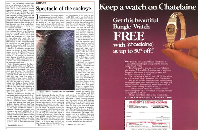 Article Preview: Spectacle of the sockeye, November 1986 | Maclean's
