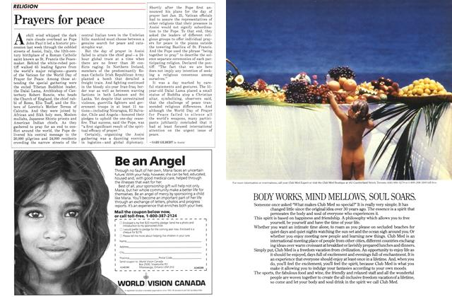 Article Preview: Prayers for peace, November 1986 | Maclean's