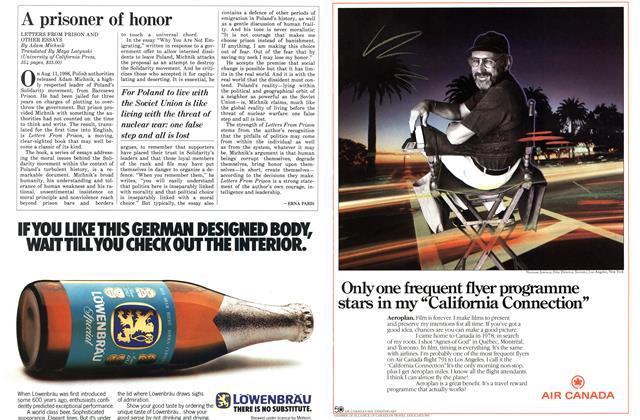 Article Preview: A prisoner of honor, November 1986   Maclean's