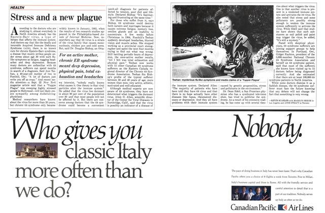 Article Preview: Stress and a new plague, November 1986 | Maclean's