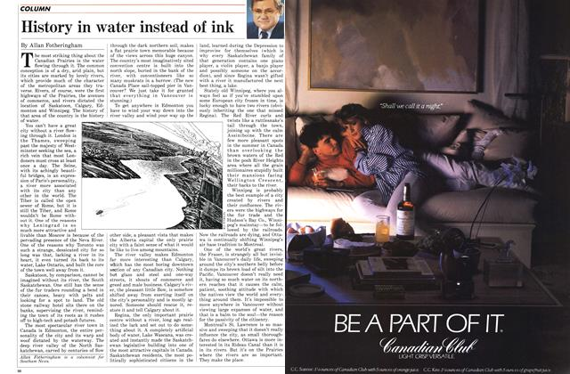 Article Preview: History in water instead of ink, November 1986 | Maclean's