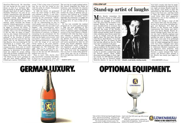 Article Preview: Stand-up artist of laughs, November 1986 | Maclean's