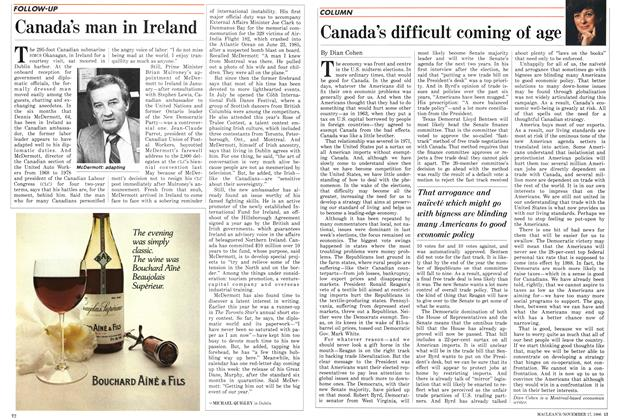 Article Preview: Canada's difficult coming of age, November 1986 | Maclean's