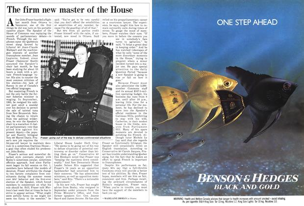 Article Preview: The firm new master of the House, November 1986 | Maclean's
