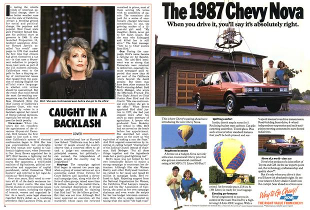 Article Preview: CAUGHT IN A BACKLASH, November 1986 | Maclean's