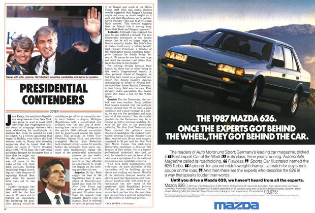 Article Preview: PRESIDENTIAL CONTENDERS, November 1986 | Maclean's