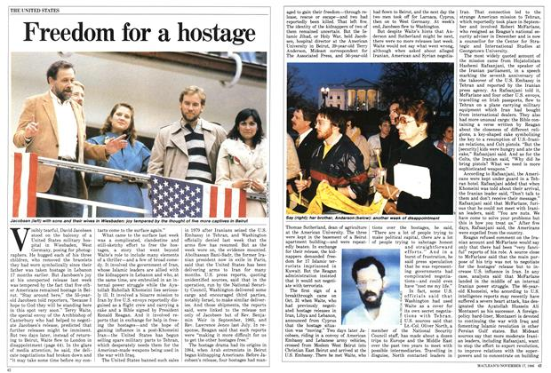 Article Preview: Freedom for a hostage, November 1986 | Maclean's