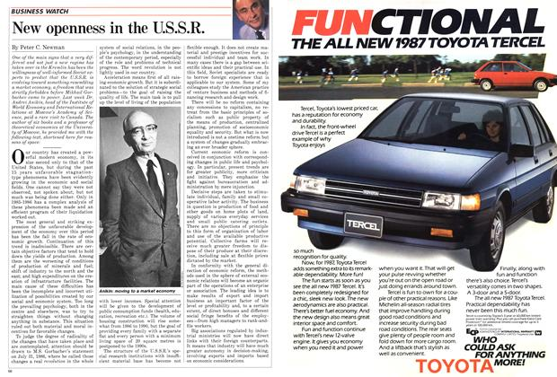Article Preview: New openness in the U.S.S.R., November 1986 | Maclean's