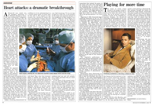 Article Preview: Heart attacks: a dramatic breakthrough, November 1986 | Maclean's