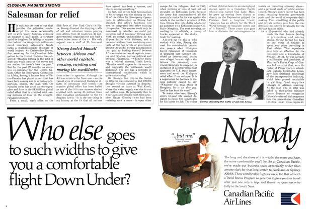 Article Preview: Salesman for relief, November 1986 | Maclean's