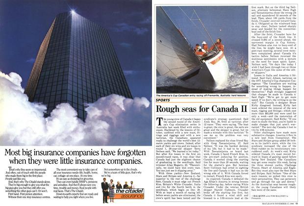 Article Preview: Rough seas for Canada II, November 1986 | Maclean's
