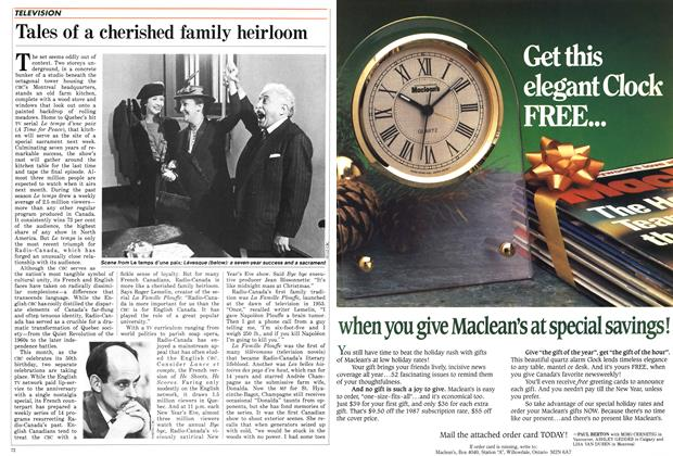 Article Preview: Tales of a cherished family heirloom, November 1986 | Maclean's