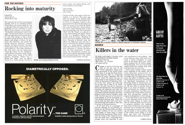 Article Preview: Rocking into maturity, November 1986 | Maclean's