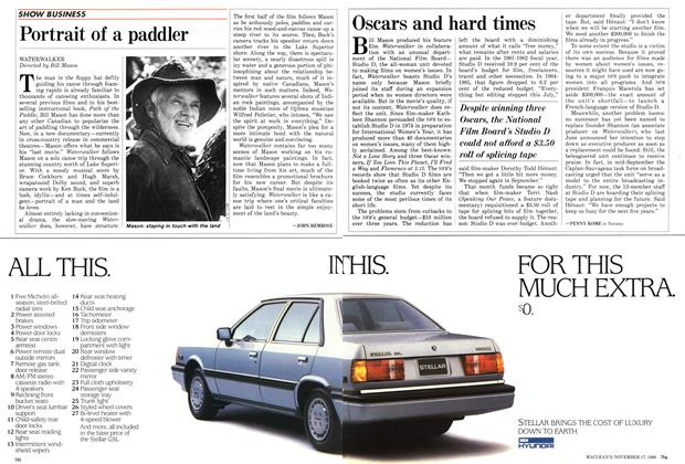 Article Preview: Portrait of a paddler, November 1986 | Maclean's