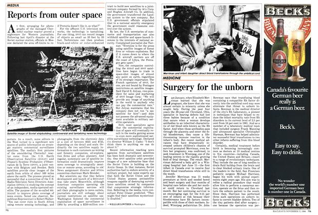 Article Preview: Reports from outer space, November 1986 | Maclean's
