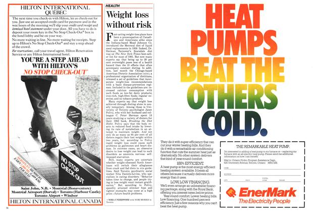 Article Preview: Weight loss without risk, November 1986 | Maclean's
