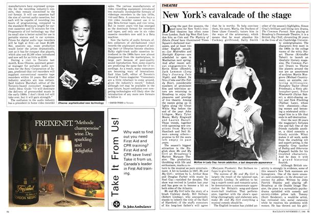 Article Preview: New York's cavalcade of the stage, November 1986 | Maclean's