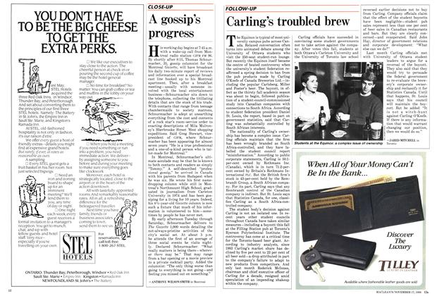 Article Preview: A gossip's progress, November 1986 | Maclean's