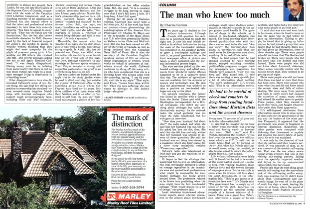 Article Preview: The man who knew too much, November 1986 | Maclean's