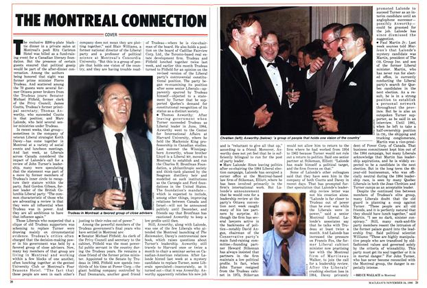 Article Preview: THE MONTREAL CONNECTION, November 1986 | Maclean's