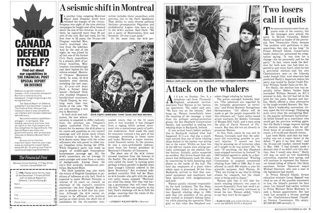 Article Preview: Two losers call it quits, November 1986 | Maclean's