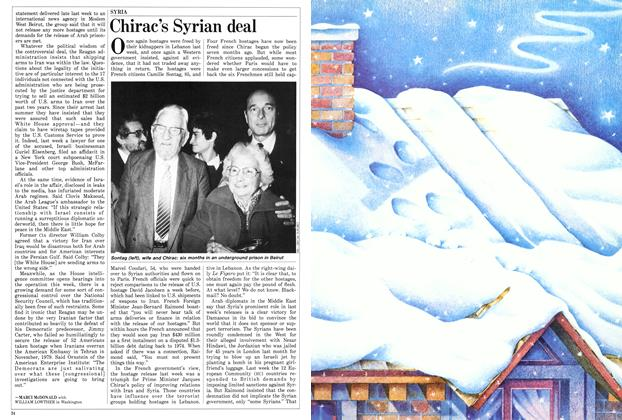 Article Preview: Chirac's Syrian deal, November 1986 | Maclean's