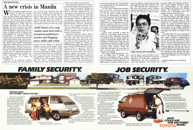Article Preview: A new crisis in Manila, November 1986 | Maclean's