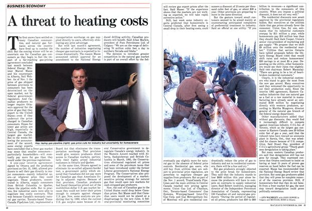 Article Preview: A threat to heating costs, November 1986 | Maclean's