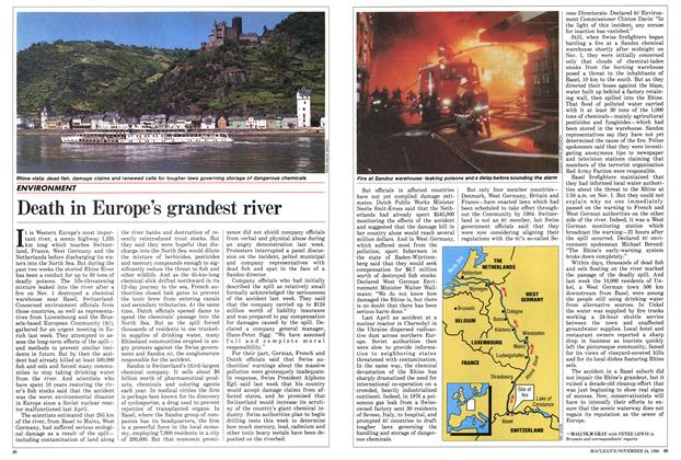 Article Preview: Death in Europe's grandest river, November 1986 | Maclean's